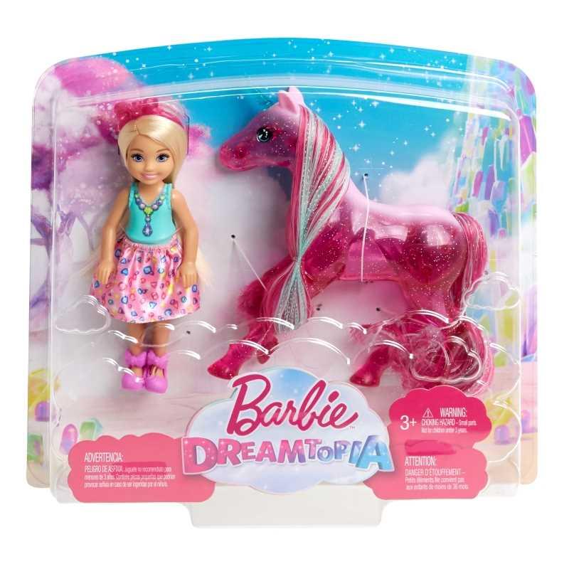 Barbie Dreamtopia - Poupée Chelsea et sa licorne