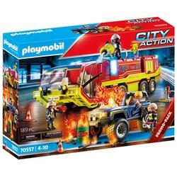 Camion de pompiers et véhicule enflammé - PLAYMOBIL City Action - 70557