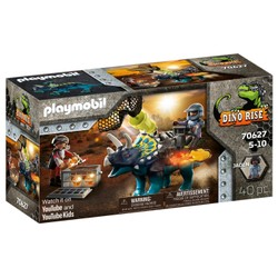 Triceratops et soldats - PLAYMOBIL Dino Rise - 70627