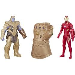 Gant électronique et figurines 30 cm Thanos et Iron Man - Marvel Avengers