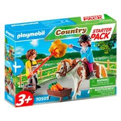 Starter Pack Cavalière et palefrenier - PLAYMOBIL Country - 70505