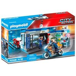 Poste de police et cambrioleur - PLAYMOBIL City Action - 70568