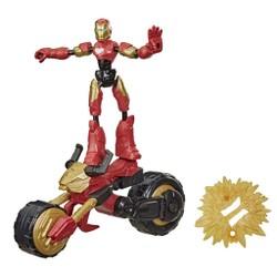 Figurine 15 cm Bend & Flex Iron Man et son véhicule - Marvel Avengers