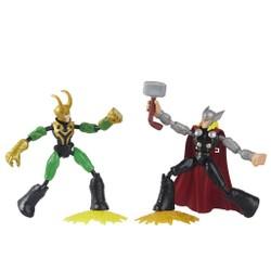Figurines 15 cm Bend & Flex Thor et Loki - Marvel Avengers