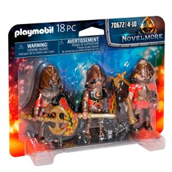 3 combattants Burnham Raiders - PLAYMOBIL Novelmore - 70672