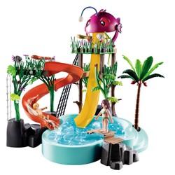 Parc aquatique avec toboggans - PLAYMOBIL Family Fun - 70609