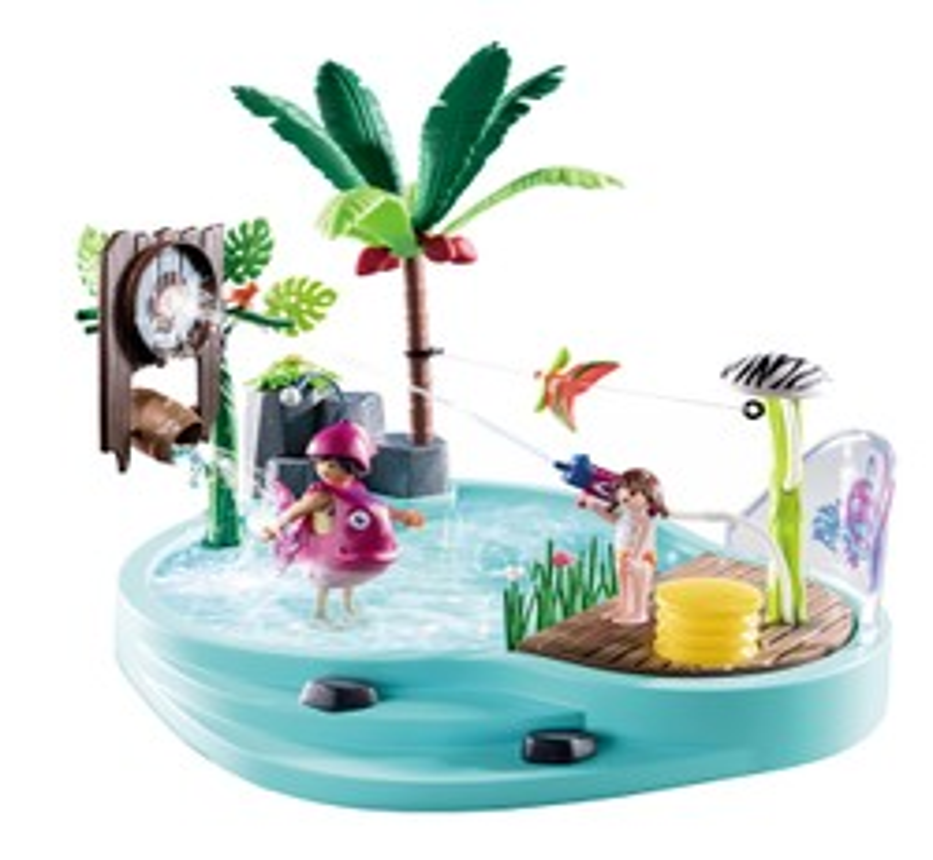 Piscine avec jet d'eau -PLAYMOBIL Family Fun - 70610