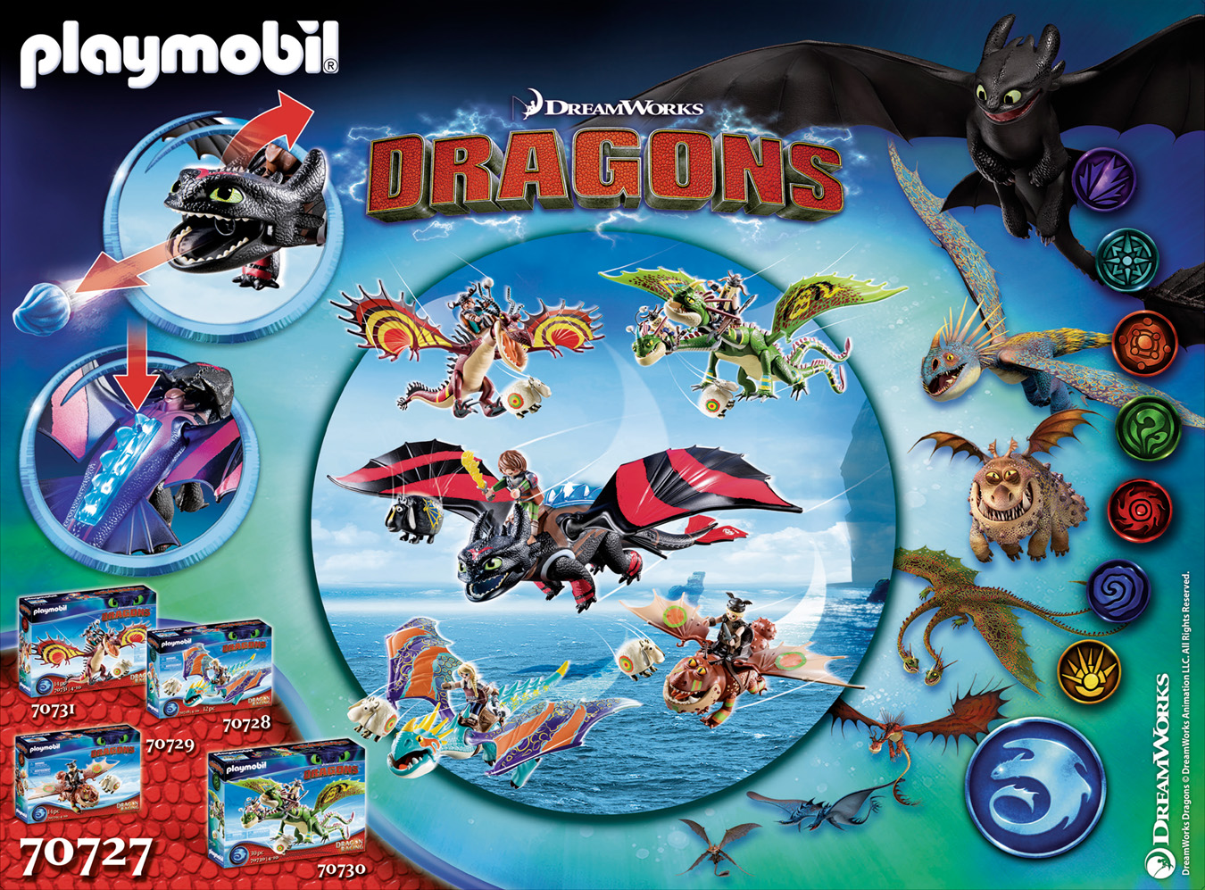 Dragon Racing: Krokmou et Harold  - PLAYMOBIL Dragons - 70727