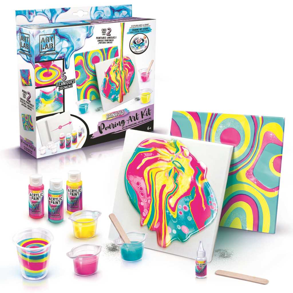 Rainbow Pouring Art Kit