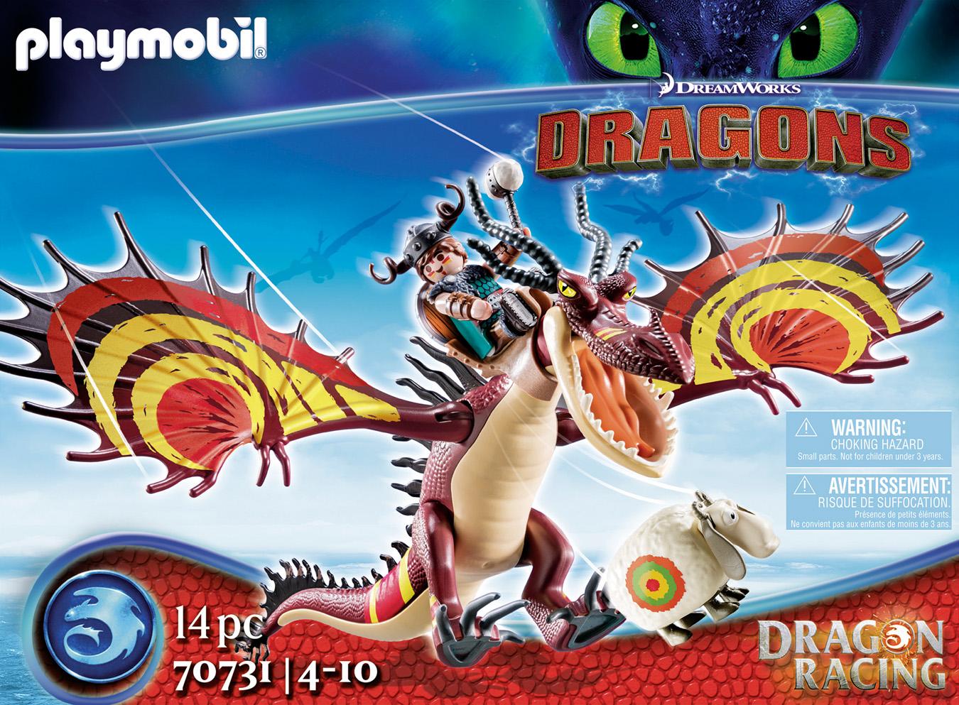 Dragon Racing: Rustik et Krochefer - PLAYMOBIL Dragons - 70731