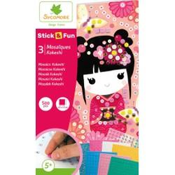 Stick fun mini mosaïque Kokeshi