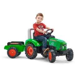Tracteur avec remorque Supercharger vert