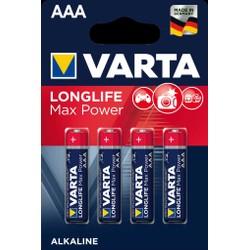 Pack de 4 piles Varta Longlife Max Power AAA/LR03