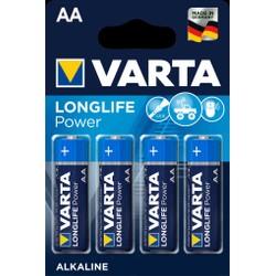 Pack de 4 piles Varta Longlife Power AA/LR6