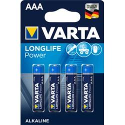 Pack de 4 piles Varta Longlife Power AAA/LR03