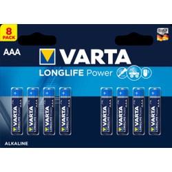Pack de 8 Piles Varta Longlife Power AAA/LR03