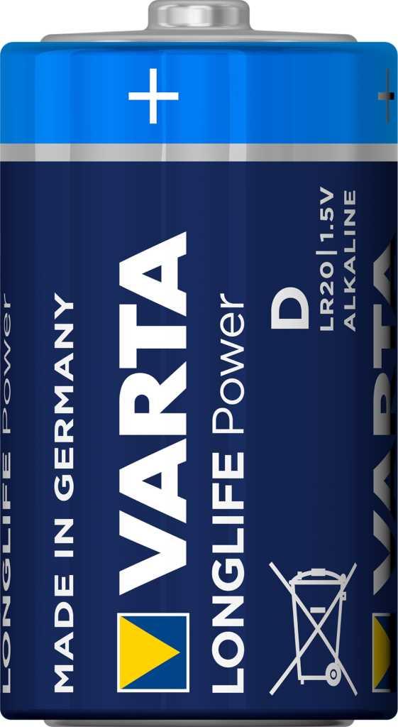 Pack de 2 piles Varta Longlife Power D/LR20