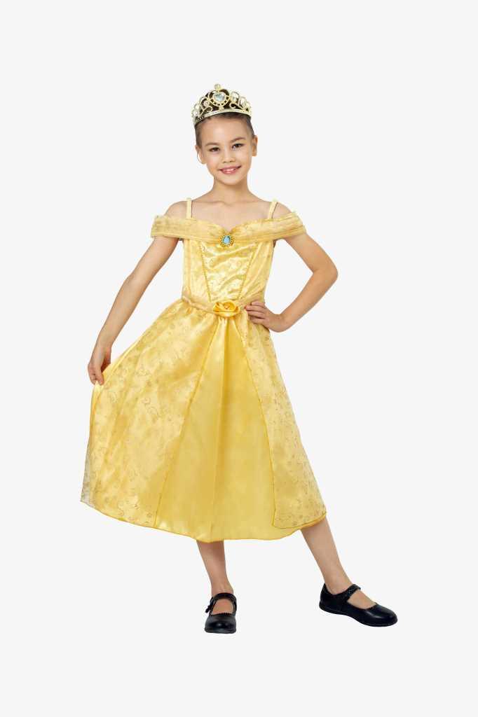 Déguisement Princesse Deluxe Jaune - Taille 110