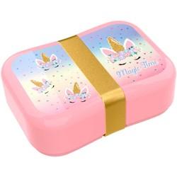 Boîte à tartine Licorne avec strap doré