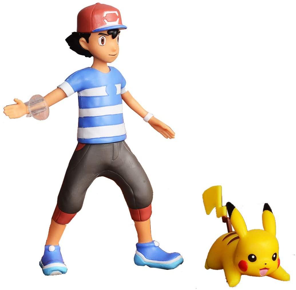 Pokémon - Figurine à fonction 12 cm - Sacha et Pikachu