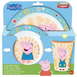 Peppa Pig - Set petit déjeuner