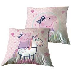 Coussin Peppa Pig sur une licorne