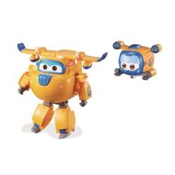 Figurine Super Wings Transforming Supercharge 12 cm + Super Pets - Donnie