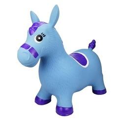 Poney sauteur bleu