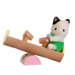 Le bébé chat et balançoire double - Sylvanian Families - 5205