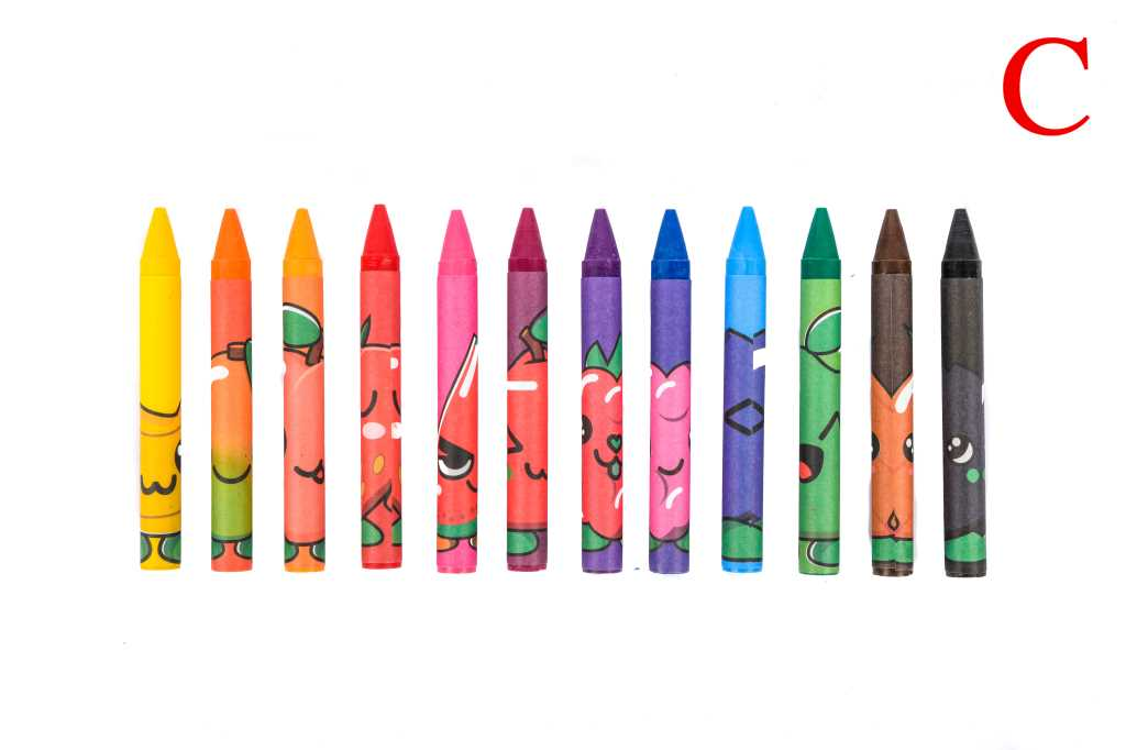 Fruitysquad Pochette de 12 crayons de couleur parfumé