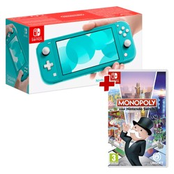 Pack Console Nintendo Switch Lite Turquoise + Monopoly
