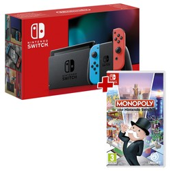 Pack Console Nintendo Switch Rouge/Bleu + Monopoly