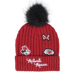 bonnet avec des applications minnie winter 2