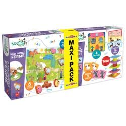 Maxi Pack Baby ferme puzzle + Baby Coffret éducatif ferme 4 en 1