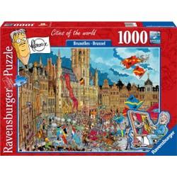 Puzzle 1000 pièces - Fleroux - Bruxelles, Cities of the World