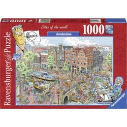 Puzzle 1000 pièces - Fleroux - Amsterdam,  Cities of the World