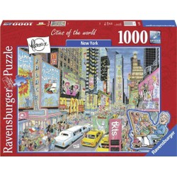 Puzzle 1000 pièces - Fleroux - New York, Cities of the World