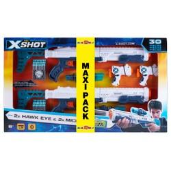 Maxi Pack X-Shot 2 Hawk Eye + Mini pistolet