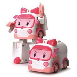 Robocar Poli - Véhicule robot transformable 2 en 1 - Ambre