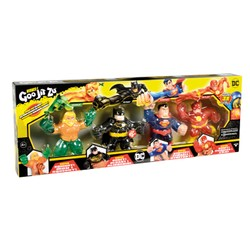 Heroes of Goo Jit Zu - Pack de 4 Figurines DC Comics