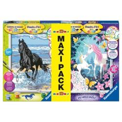 Maxi Pack Numéro d'Art Licornes + Cheval dans le ressac