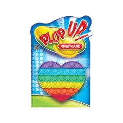 Plop Up Fidget Rainbow Heart
