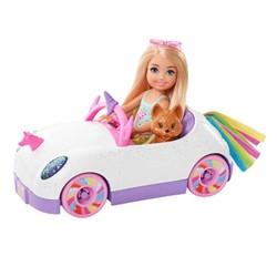 Barbie - Mini poupée Chelsea et voiture décapotable