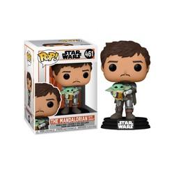 Figurine Pop! Star Wars: The Mandalorian - Le Mandalorien avec Bébé Yoda
