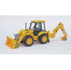 Tracteur de travaux routiers JCB + pelle av/ar