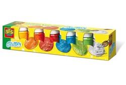 Peinture paillettes - 6 pots