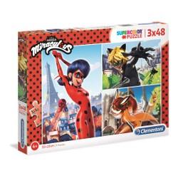 Puzzle Super Color 3x48 pièces (Assortiment)