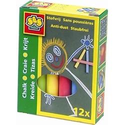 Craies couleurs 12 pièces