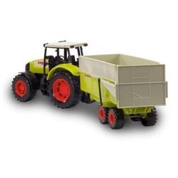 Tracteur Claas avec remorque