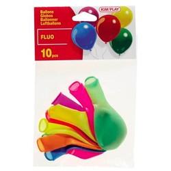 10 ballons de baudruche fluo